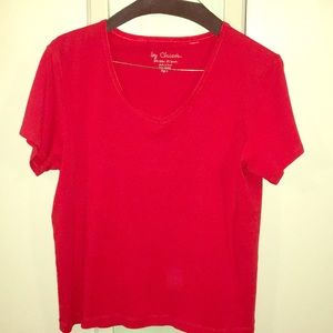 CHICO'S Size 3 RED Pull Over Blouse US Size XL 16